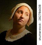 Rembrandt Style Portrait. Oil...