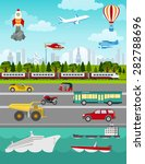 transport infographics elements.... | Shutterstock .eps vector #282788696