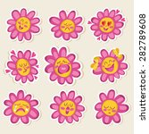 flowers icons. | Shutterstock .eps vector #282789608