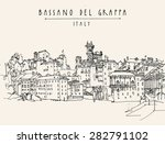 Old Center Panorama In Bassano...