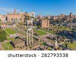 The Roman Forum In Rome  Italy.