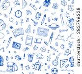 hand drawn seamless pattern... | Shutterstock .eps vector #282796328