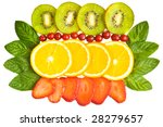 background with fruits and mint | Shutterstock . vector #28279657