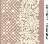 lace vertical seamless pattern. | Shutterstock .eps vector #282803456