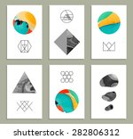 creative trendy cards. abstract ... | Shutterstock .eps vector #282806312