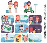 island vacation | Shutterstock .eps vector #282810356