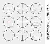 set of the real gun sights. the ... | Shutterstock .eps vector #282814916