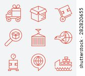 logistic icons  thin line style ... | Shutterstock .eps vector #282820655