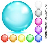 set of opaque spheres of... | Shutterstock .eps vector #282824972