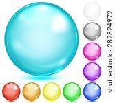 Set Of Opaque Spheres Of...