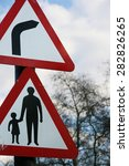 "traffic signs warning signs of ""... | Shutterstock . vector #282826265"