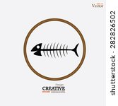 fish bone.vector illustration.   Shutterstock .eps vector #282826502