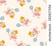 tennis player  seamless pattern | Shutterstock .eps vector #282827456