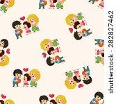 family  seamless pattern   Shutterstock .eps vector #282827462