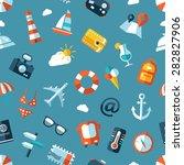 illustration of travel flat... | Shutterstock . vector #282827906