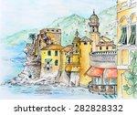 akvarell camogli   Shutterstock . vector #282828332