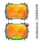 orange crystal panels  vector...