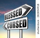 blessed cursed sacred and... | Shutterstock . vector #282854918