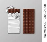 chocolate bar package packaging ... | Shutterstock .eps vector #282864308