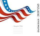 abstract us flag top left cover ... | Shutterstock .eps vector #282871565
