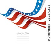 abstract us flag top right... | Shutterstock .eps vector #282871616