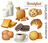 breakfast 3. set of cartoon... | Shutterstock .eps vector #282873452