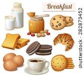 breakfast 3. set of cartoon... | Shutterstock .eps vector #282873452
