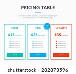 pricing table template with...   Shutterstock .eps vector #282873596