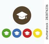 simple icon graduation cap. | Shutterstock .eps vector #282876236