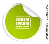 green round sticker | Shutterstock .eps vector #282876542
