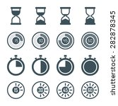 timer  digital timer  stopwatch ... | Shutterstock .eps vector #282878345