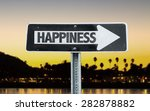 happiness direction sign with... | Shutterstock . vector #282878882