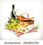 time for a picnic  nature ... | Shutterstock .eps vector #282881255