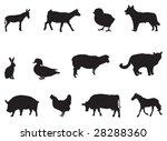 farm animals | Shutterstock .eps vector #28288360