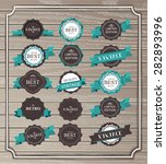 vintage labels | Shutterstock .eps vector #282893996
