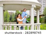 mom and daughter 2.5 years for... | Shutterstock . vector #282898745