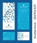 vector blue forest vertical... | Shutterstock .eps vector #282901325