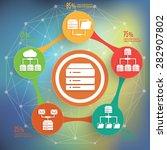 database info graphic design ... | Shutterstock .eps vector #282907802