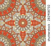 colorful ethnic patterned... | Shutterstock .eps vector #282908732