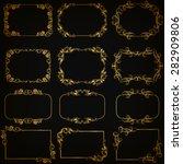 vector set of decorative hand... | Shutterstock .eps vector #282909806