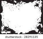 grunge splatter vector frame   Shutterstock .eps vector #28291135