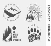 set of wilderness hand drawn... | Shutterstock .eps vector #282914015