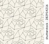 seamless fish pattern tile... | Shutterstock .eps vector #282914216