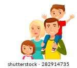cute young family with two kids   Shutterstock .eps vector #282914735