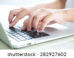 closeup of business woman hand...   Shutterstock . vector #282927602