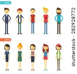 casual set characters for use... | Shutterstock .eps vector #282928772
