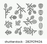 graphical vector linear set of... | Shutterstock .eps vector #282929426