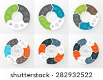 vector circle arrows... | Shutterstock .eps vector #282932522