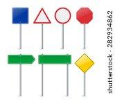 set of road signs. vector... | Shutterstock .eps vector #282934862