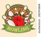 bowling sport  logo  sign ... | Shutterstock .eps vector #282943868